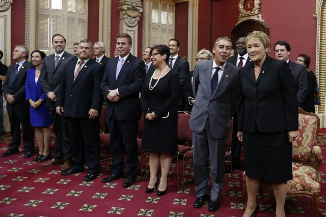Avec 23 ministres, Pauline Marois a opté pour... (Photo: Reuters)