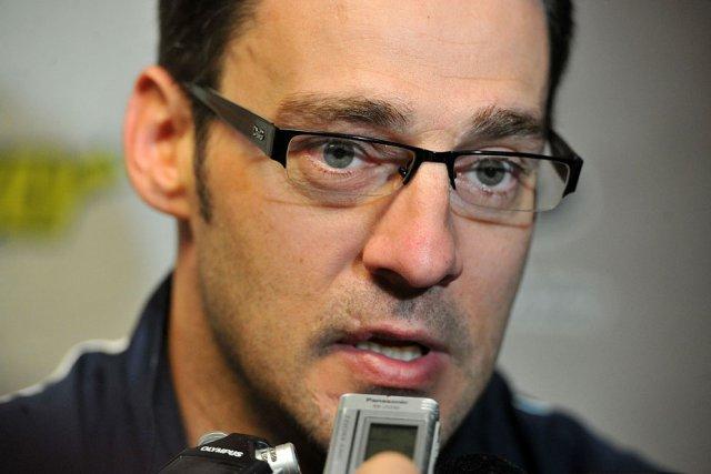 L'entraîneur Éric Veilleux... (Photo: Stéphane Lessard)