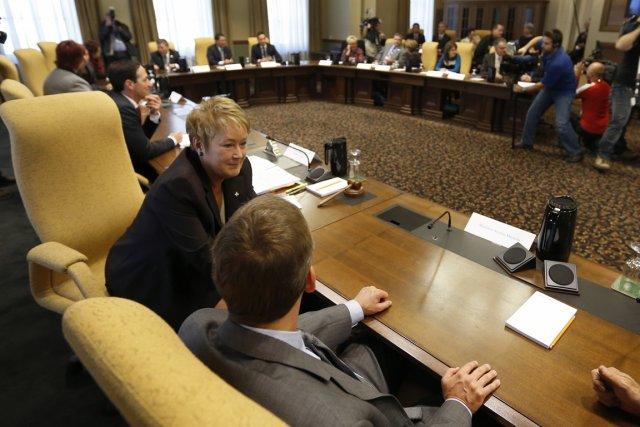La première réunion du Conseil des ministres de... (Photo: PC)