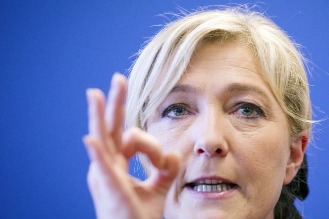 La chef du Front national Marine Le Pen... (PHOTO JOEL SAGET, AFP)