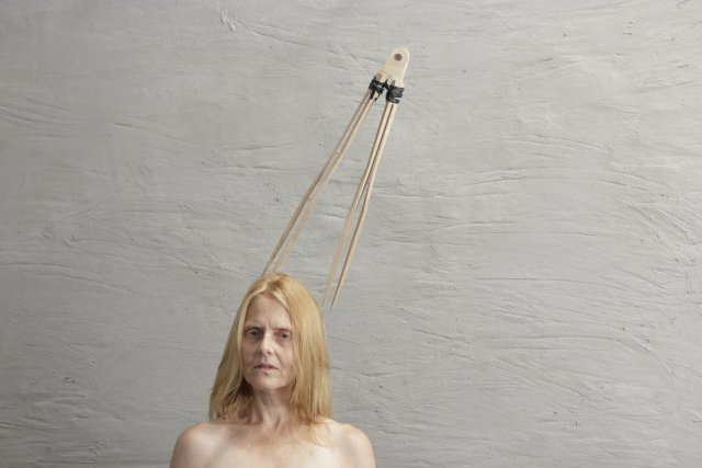 Duo femme et compas, de Julie Favreau (2012),... (Photo: Julie Favreau)