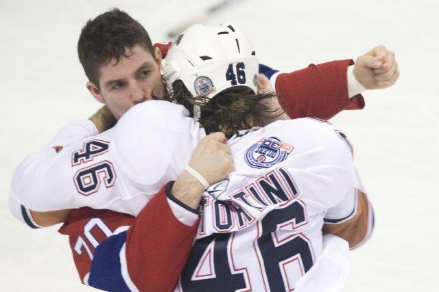 Zack Stortini, alors membre des Oilers d'Edmonton, face... (Photo : André Pichette, La Presse)