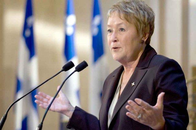 Pauline Marois, première ministre du Québec... (La presse canadienne)