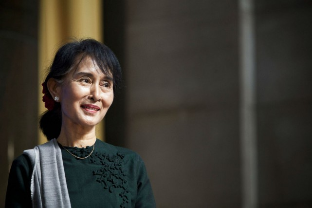 Aung San Suu Kyi... (Photo Andrew Burton, Archives Reuters)