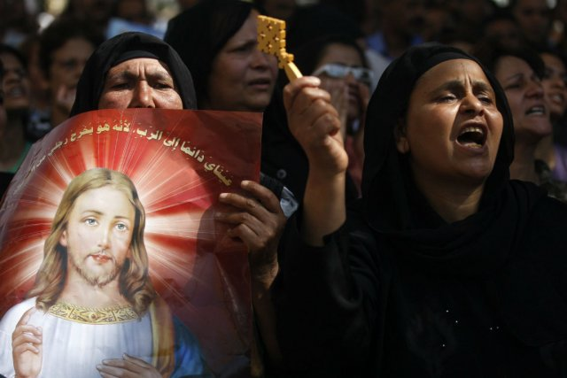 Le synode de l'Église orthodoxe copte, la plus... (Photo Khalil Hamra, Associated Press)