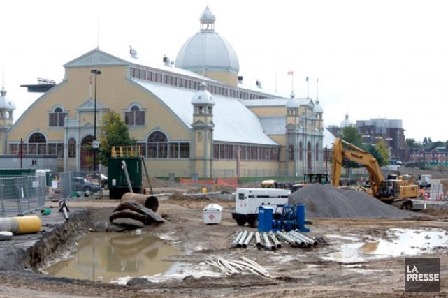 La Ville d'Ottawa permettra aux ouvriers sur le chantier du nouveau Lansdowne... (Etienne Ranger, LeDroit)