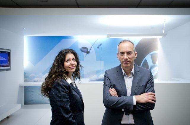 Guy Bessette, président du conseil d'administration et Manon... (Photo Marco Campanozzi, La Presse)