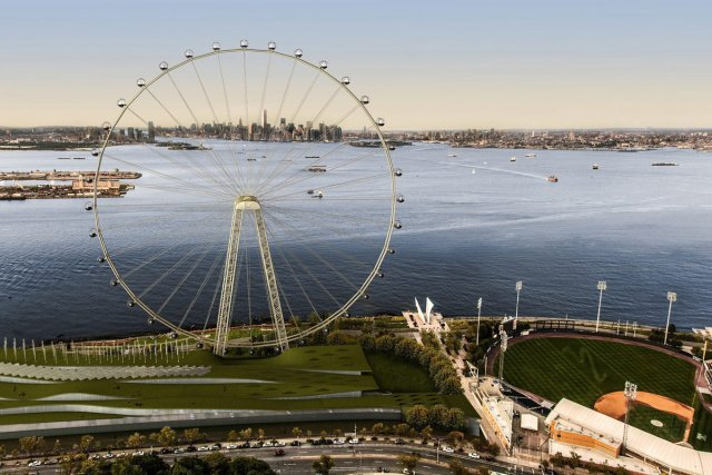 La «New York Wheel» sera construite au coût... (Photo: AP)