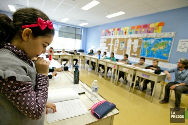 Même si les enfants ne sont pas tous... (Photo Marco Campanozzi, La Presse)