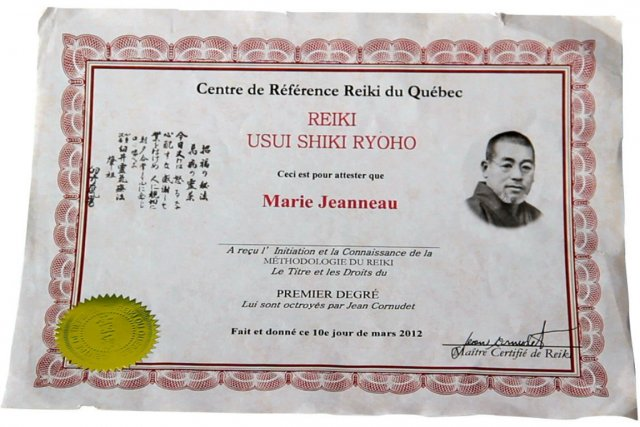 Le diplôme obtenu en une demi-journée par La... (Image La Presse)