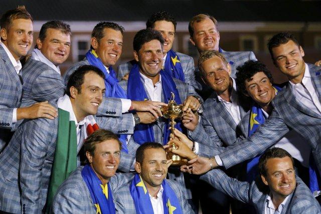 L'équipe européenne était tout sourire après la cérémonie... (Photo: Reuters)
