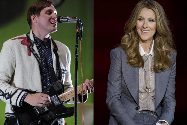Win Butler d'Arcade Fire et Céline Dion.... (Photo: Bernard Brault, archives La Presse et archives AP)