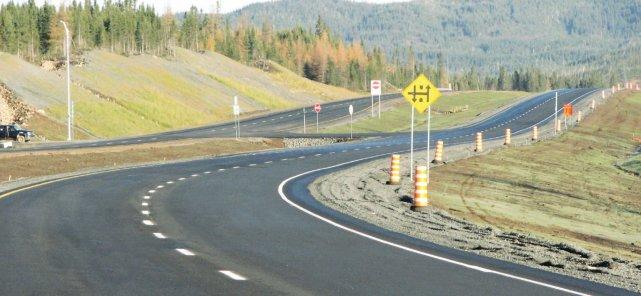 La  voie de la route 175 nord fermée la nuit dernière après qu'on eut  remarqué... (Photo archive)