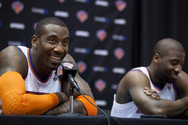 Amar'e Stoudemire et Raymond Felton, des Knicks de... (Photo: AP)
