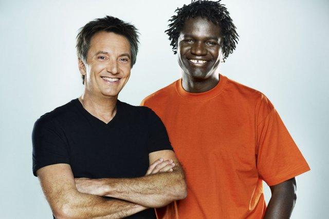 Francis Reddy et Boucar Diouf... (Photo: fournie par Radio-Canada)