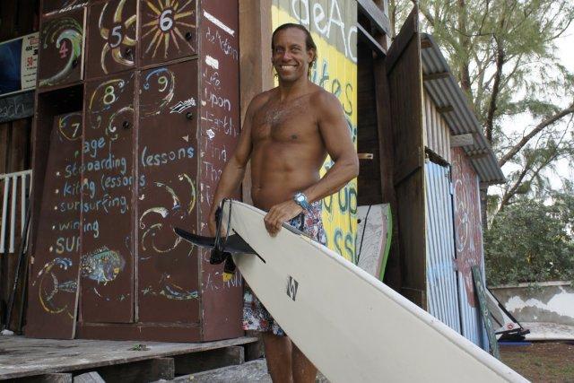 Brian Talma, champion de planche à voile, devant... (Photo: Marie-Ève Morasse, La Presse.)