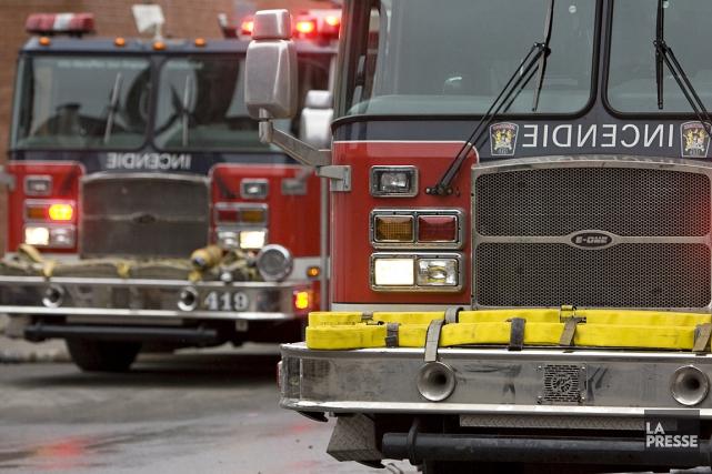 Un incendie a éclaté peu avant 5h30, jeudi matin, dans un entrepôt de... (Photo: archives La Presse)