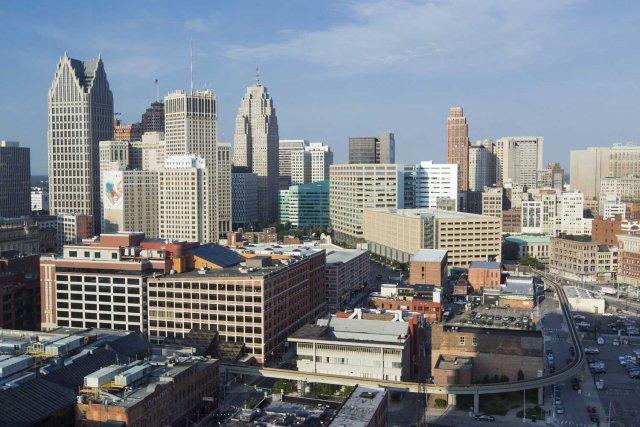 Le centre-ville de Detroit.... (PHOTO ÉDOUARD PLANTE-FRÉCHETTE, LA PRESSE)