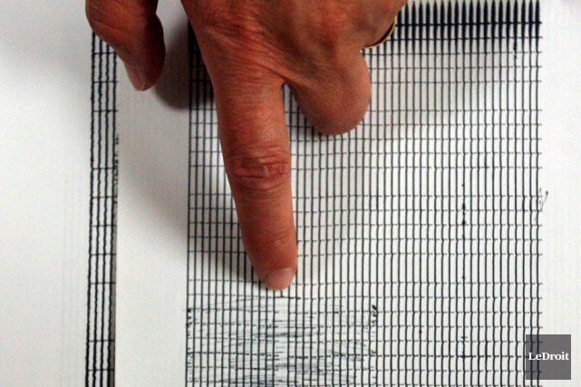 Séisme Canada confirme qu'un tremblement de terre de magnitude 3,4 est survenu... (Archives, LeDroit)