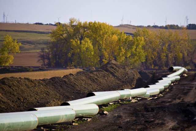 Le pipeline Keystone de TransCanada en construction au... (PHOTO ARCHIVES REUTERS)
