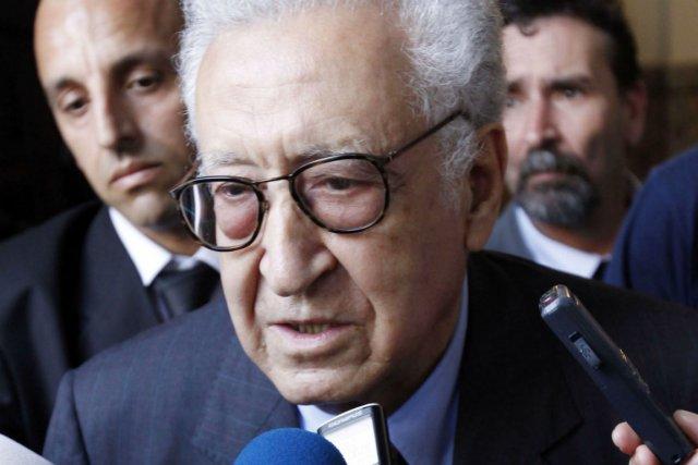 Le médiateur international Lakhdar Brahimi... (Photo Louafi Larbi, Reuters)