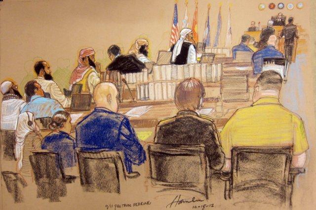 Ces détenus «de grande valeur», incarcérés à Guantanamo... (Photo: AP)