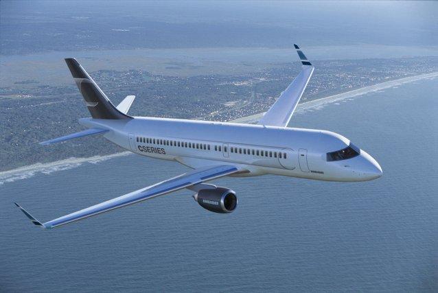 Un avion CSeries... (Photo fournie par Bombardier)