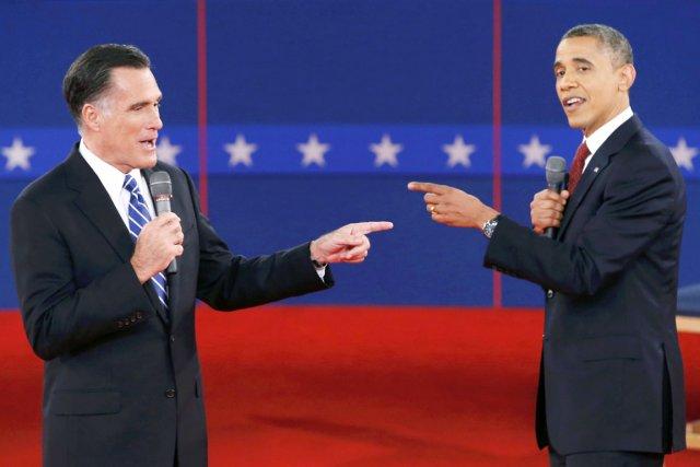 Lors du second face à face, le président... (PHOTO MIKE SEGAR, REUTERS)