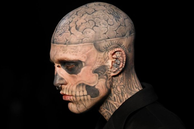 Rick Genest, alias Zombie Boy, a remporté sa... (Photo: archives AFP)