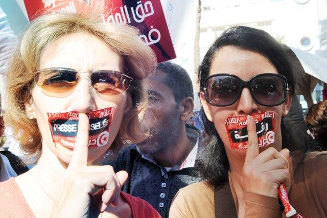 À l'occasion de cette journée de grève, des... (PHOTO FETHI BELAID, AFP)