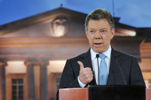 Le président colombien Juan Manuel Santos serait plus... (PHOTO CESAR CARRION, ARCHIVES AFP)