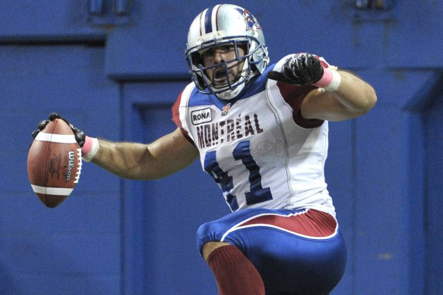 Le secondeur Shea Emry, des Alouettes, a été... (Photo: Reuters)