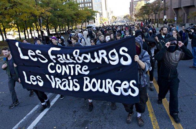 Une manifestation s'est déroulée de façon violente, cet... (Photo: Patrick Sanfaçon, La Presse)