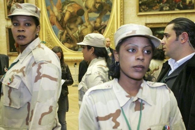 Les filles du harem de Kadhafi, dont ses... (PHOTO THIBAULT CAMUS, ARCHIVES REUTERS)