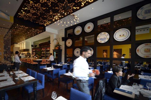 Vue intérieure du restaurant Helena, situé rue McGill.... (Photo Bernard Brault, La Presse)