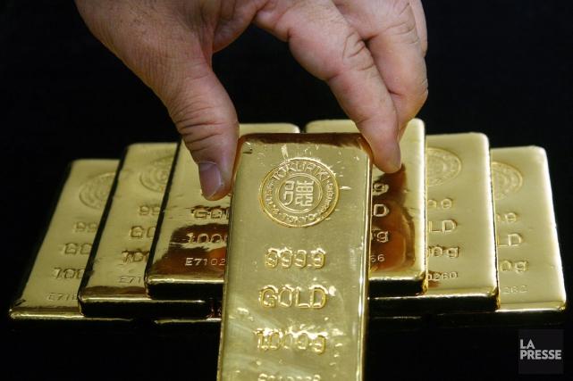 L'or a dégringolé à son plus bas niveau en près de six ans mercredi pendant les... (Photo Haruyoshi Yamaguchi, Bloomberg News)