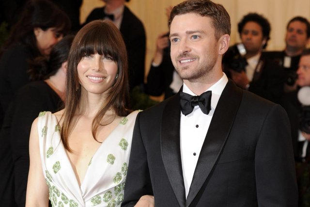 Jessica Biel et Justin Timberlake photographiés en mai... (Photo: AP)