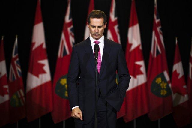 Le premier ministre de l'Ontario, Dalton McGuinty, annonce... (Photo: Reuters)