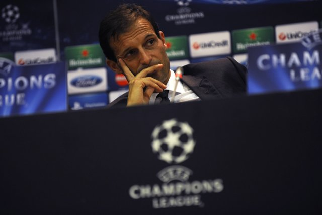 L'entraîneur de l'AC Milan, Massimiliano Allegri.... (Photo: AFP)