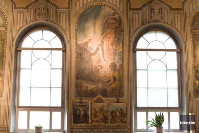 Une oeuvre d'Ozias Leduc de l'église Notre-Dame-de-la-Présentation de... (Photo: Archives Le Nouvelliste)