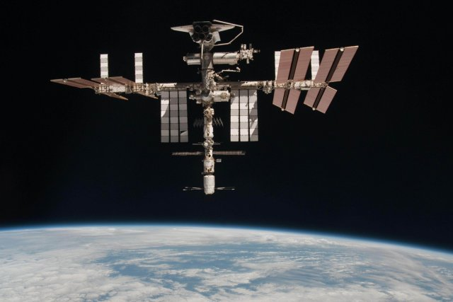 La Station spatiale internationale.... (Photo AFP)