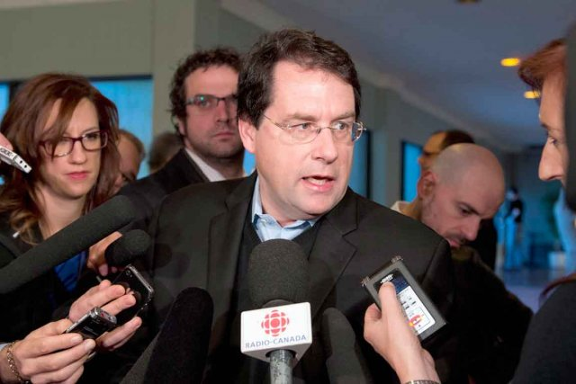Le ministre des Institutions démocratiques, Bernard Drainville.... (Photo La Presse Canadienne (Archives))