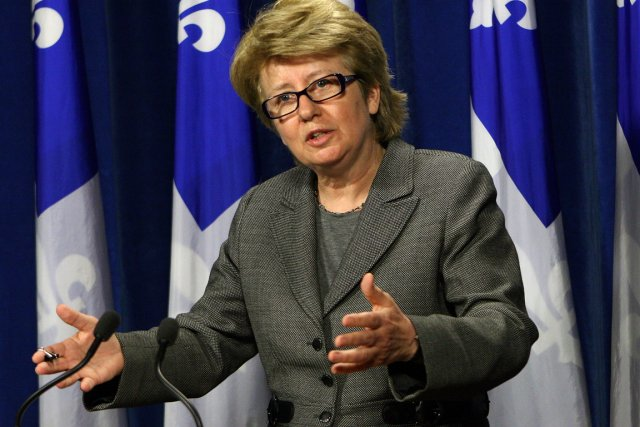 La ministre responsable de la région de la... (Photo archives PC)