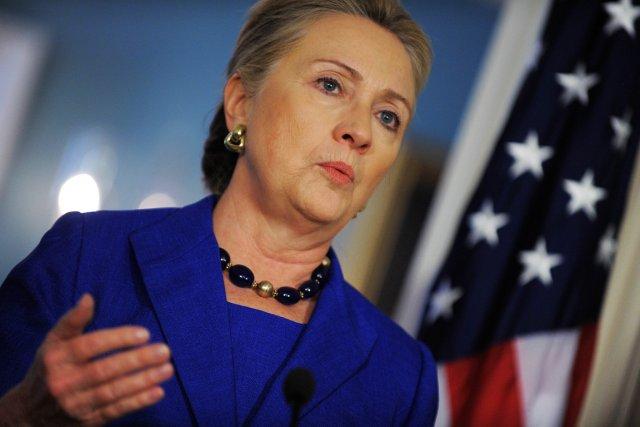 La secrétaire d'État américaine Hillary Clinton.... (PHOTO JEWEL SAMAD, AFP)