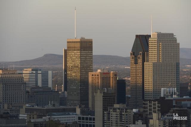 Vue du centre-ville de Montréal... (Photo : Bernard Brault, archives La Presse)