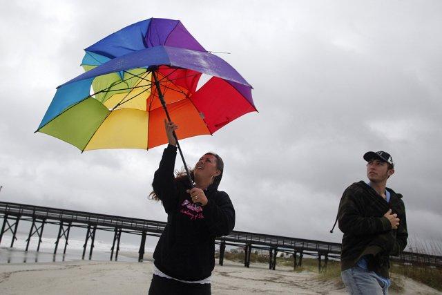 L'ouragan Sandy, après un passage sur le territoire... (Photo: Reuters)