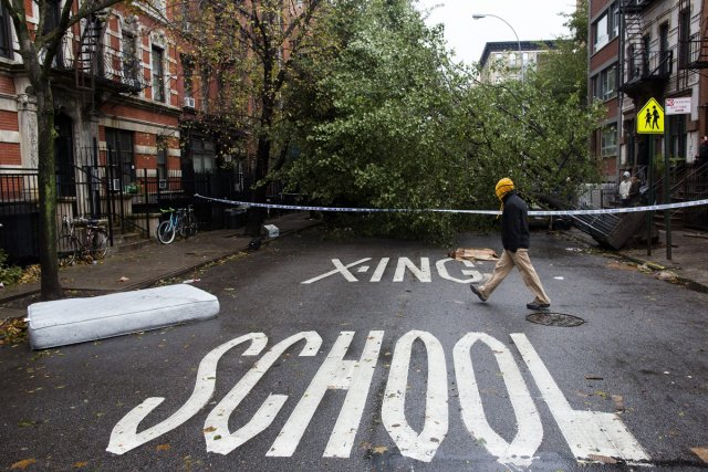 New York se remet péniblement du passage de... (Photo: AP)