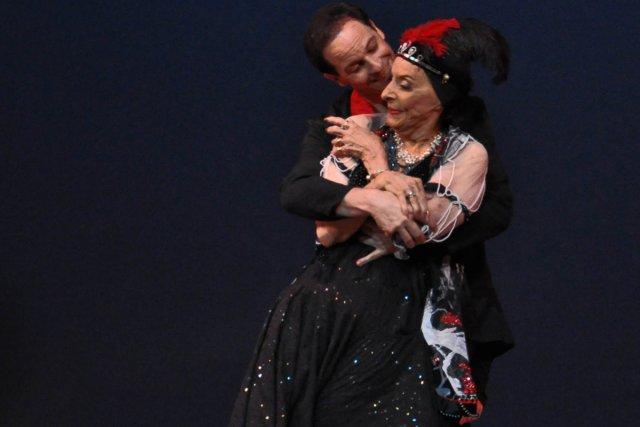 La ballerine cubaine  Alicia Alonso a esquissé... (Photo: AFP)
