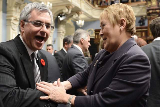 Pauline Marois s'est entretenue avec le leader de... (Photo: PC)