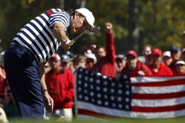 Phil Mickelson qualifie la défaite des États-Unis à... (Photo: Reuters)